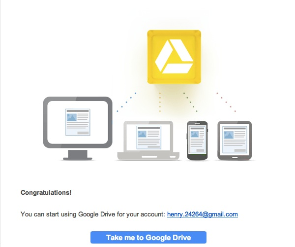 Google Drive 激活帐号