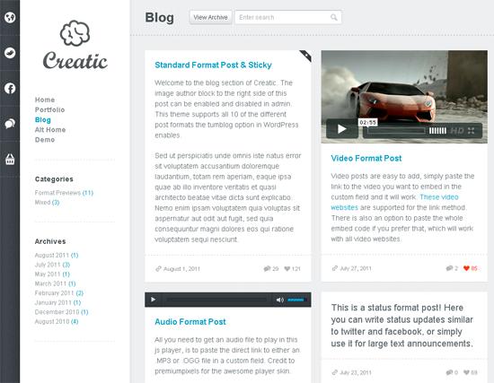 Creatic WordPress Theme