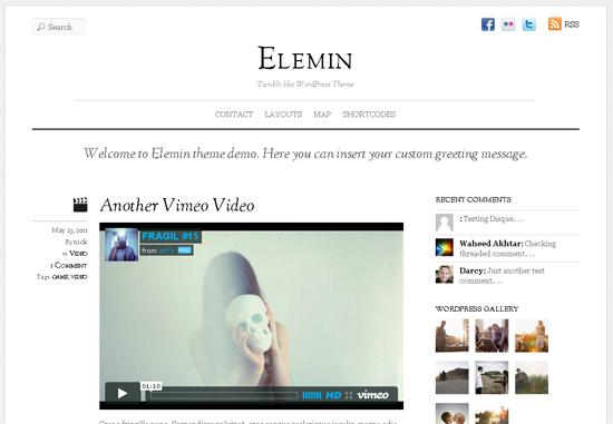 Elemin Tumblr WordPress Theme
