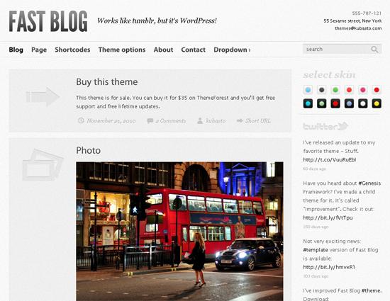 Fast Blog WordPress Theme