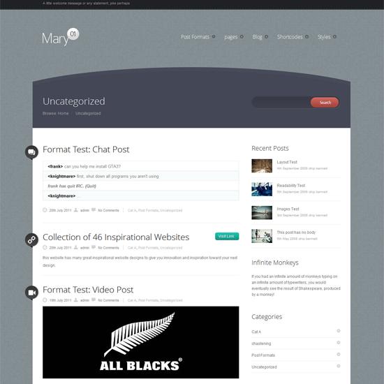 Mary WordPress Theme