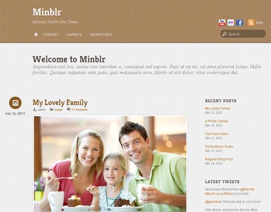 Minblr WordPress Theme