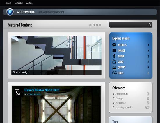 MultimediaWP Tumblog Theme