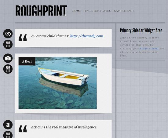 Rough Print WordPress Theme