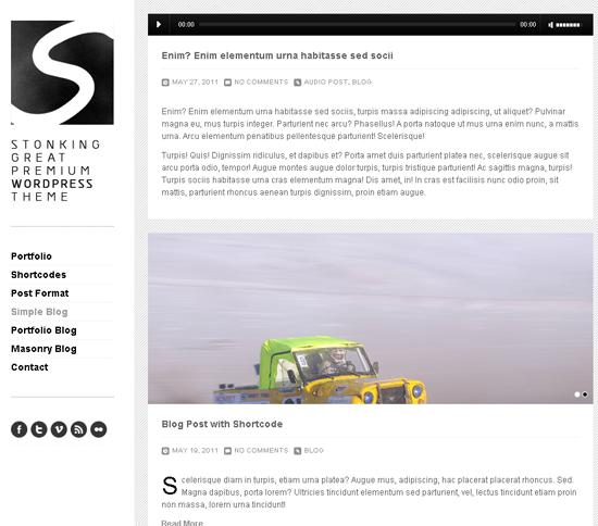 Stonking WordPress Theme