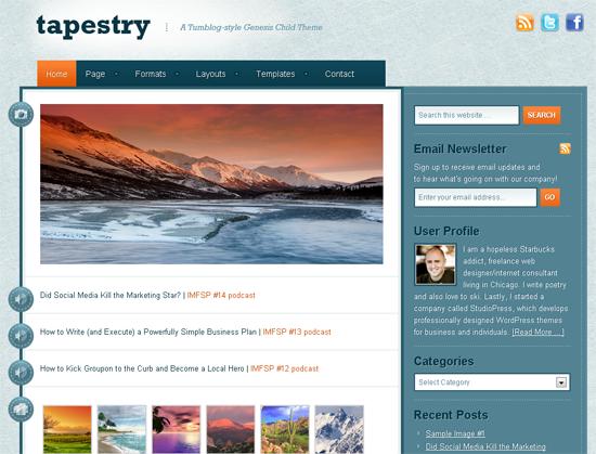 Tapestry Tumblog Theme