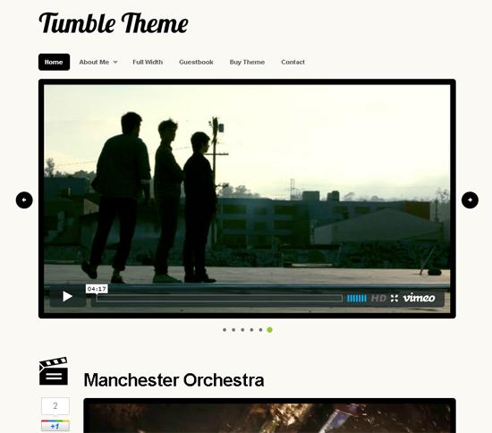 Tumble Theme For WordPress