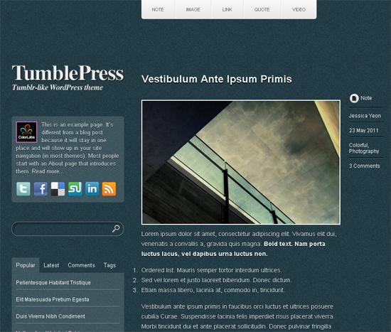 TumblePress WordPress Theme