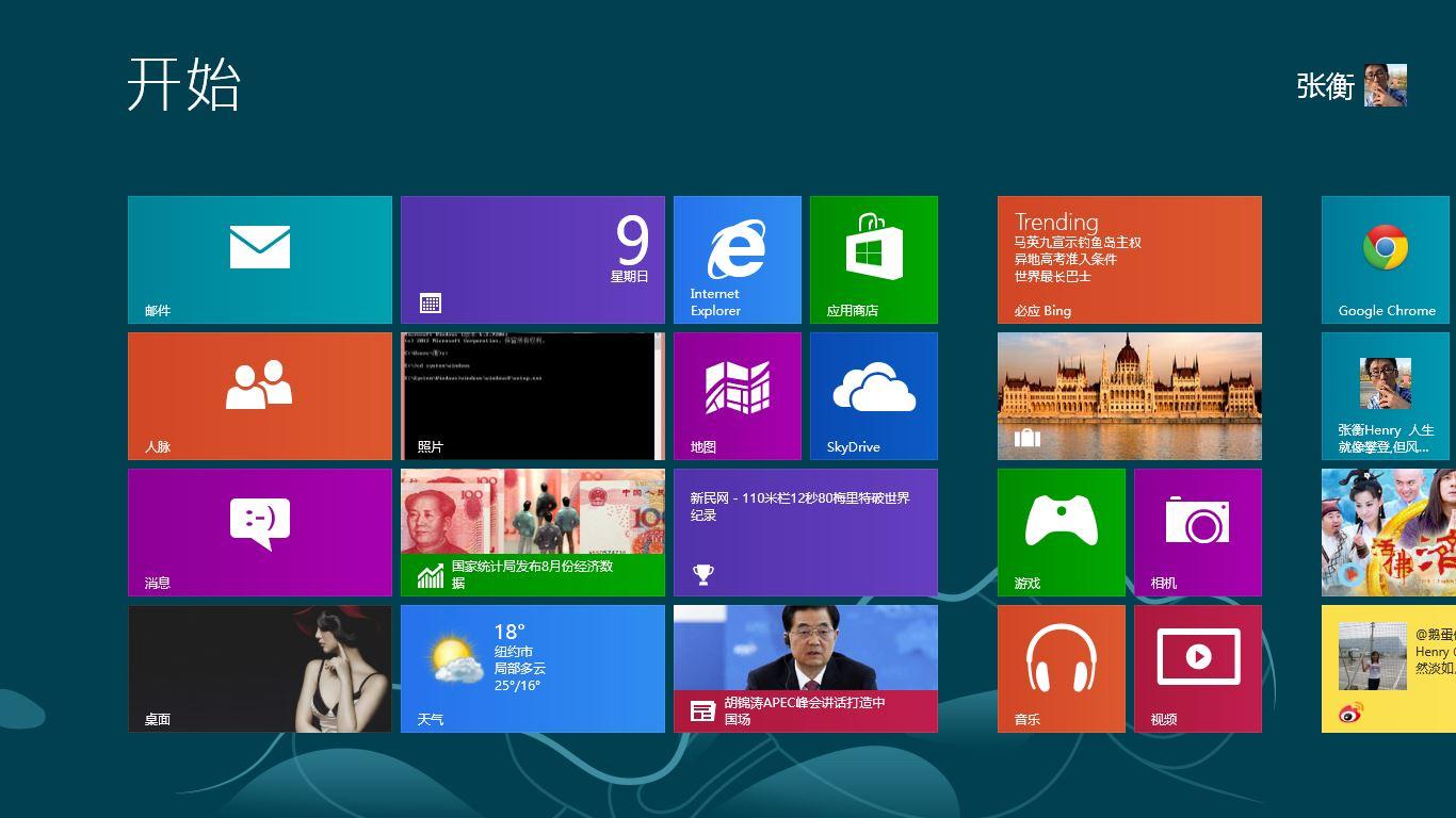 全新的Windows8,全新的用户体验