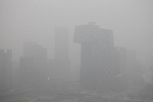 雾霾笼罩下的帝都