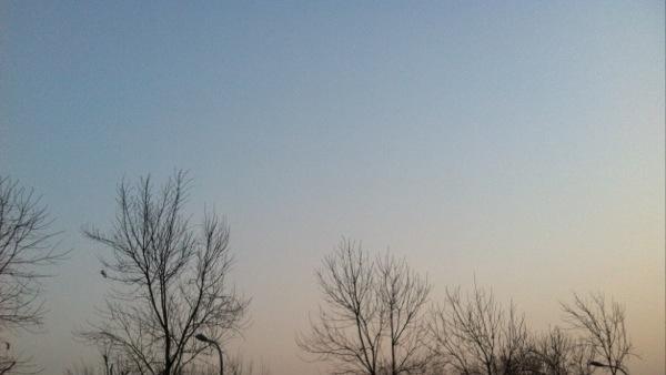 寒冷的清晨