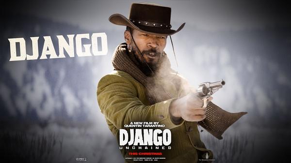 《被解救的姜戈》角色海报