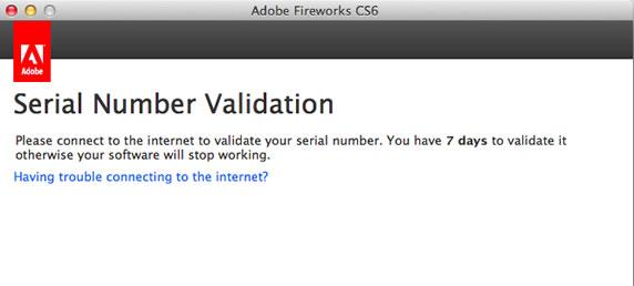Adobe CS6激活序列号