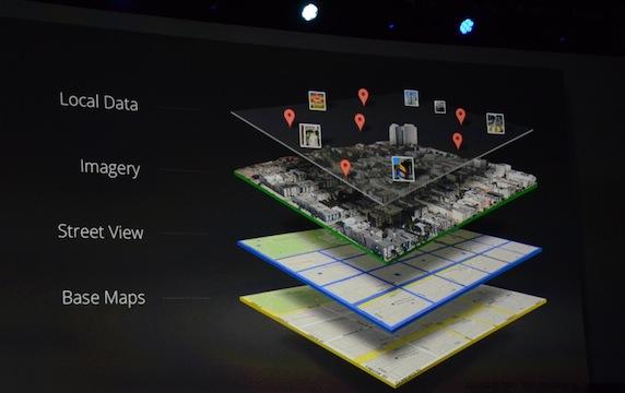 新版 Google 地图的四个图层