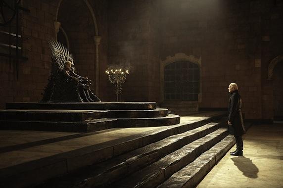 《权力的游戏》第三季剧照之铁王座