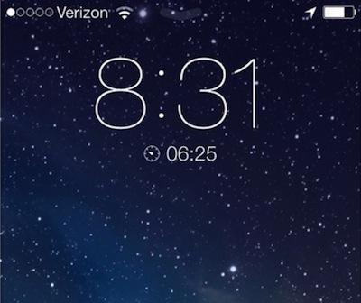 iOS7屏幕闹钟