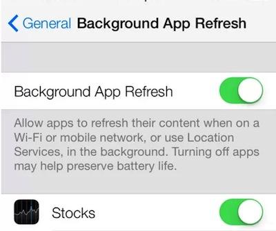 iOS7后台应用