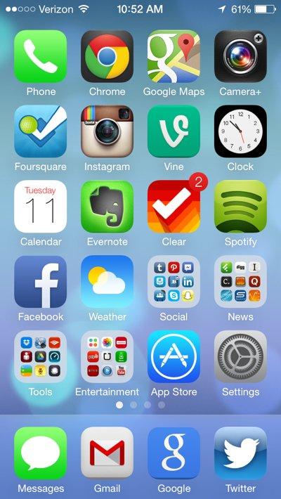 iOS7新主屏