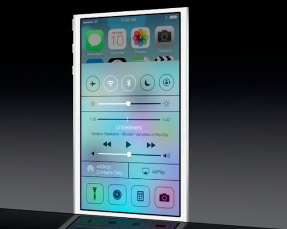 WWDC 2013 iOS 7 控制中心