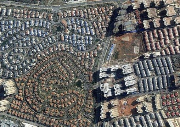 """中国""""鬼城""""卫星图片"""