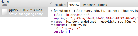 jQuery JavaScript Source Map