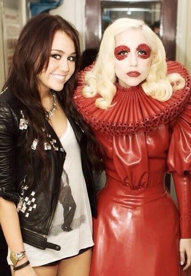 Lady Gaga and Miley Cyrus