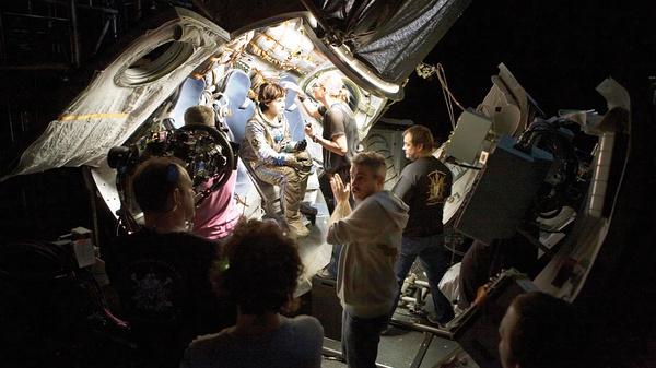 《地心引力》拍摄现场