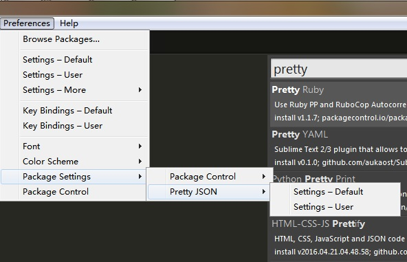 Sublime Text Pretty Json